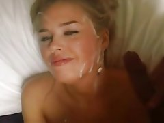 Amateur Blonde Cumshot Facial