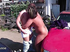 German Mature MILF Old and Young Outdoor