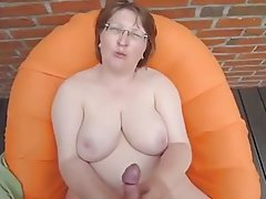 Amateur Big Boobs Cumshot Granny Handjob