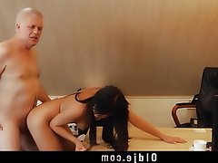 Brunette Cunnilingus Doggystyle Old and Young Teen