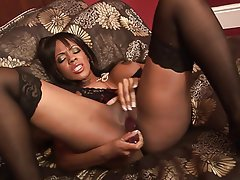 Interracial MILF Blowjob Brunette Facial
