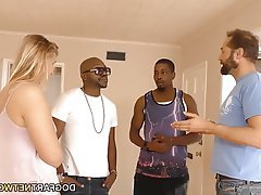 Hardcore Interracial Small Tits Teen Threesome