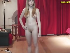 Amateur Blonde Casting POV Teen
