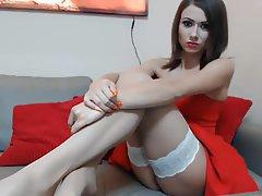 Brunette Footjob Stockings Handjob Beauty