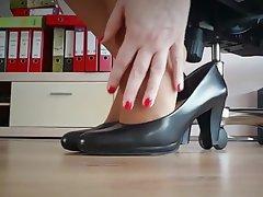Foot Fetish MILF Pantyhose Secretary