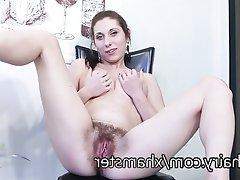 Hairy Masturbation Russian Pussy