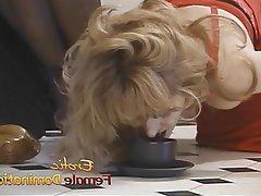 BDSM Femdom Mistress Spanking Kitchen