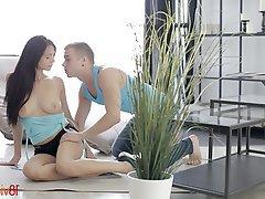 Anal Blowjob Brunette Teen Couple