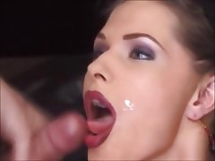 Blonde Cumshot Group Sex Facial Beauty