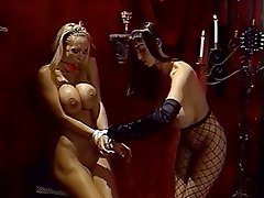 BDSM Lesbian Blonde Brunette Femdom