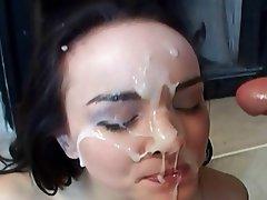 Babe Close Up Cumshot Facial