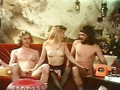 Blonde Hairy Hardcore Threesome Vintage