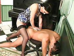 BDSM Brunette Femdom Russian Strapon
