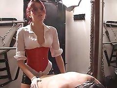 BDSM Femdom Redhead Strapon