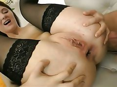 Anal Brunette Small Tits Stockings