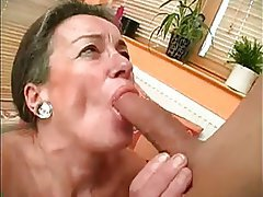 Blowjob Cumshot Granny Hairy Old and Young