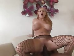 Babe Blonde Hardcore Interracial Stockings