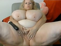 BBW Big Boobs Big Butts Blonde Masturbation