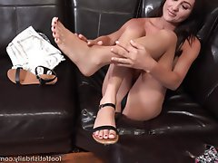 Blowjob Brunette Cumshot Foot Fetish Small Tits